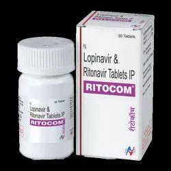 Ritocom (Lopinavir 200mg and Ritonavir 50mg tablets)
