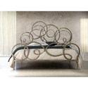 Shinny Grey Designer Wrought Iron Bed