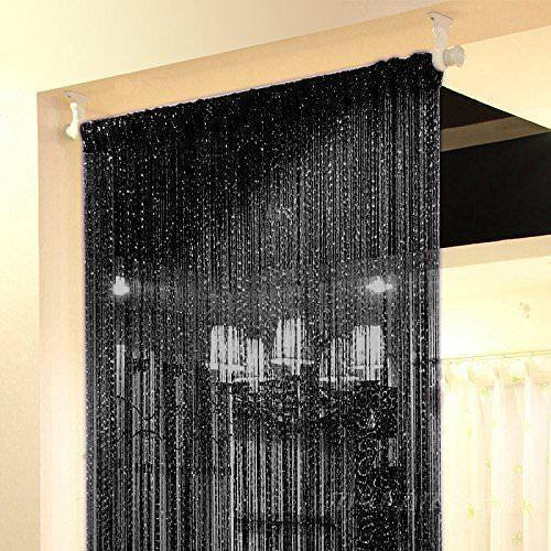 Black String Door Curtain & Black String Door Curtain Rs 200 /piece Vishnu Curtain Rods | ID ...