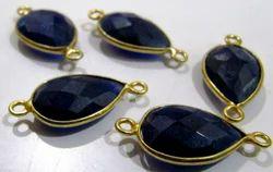 Blue Sapphire Pear Shape Briolette Connectors
