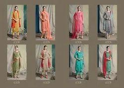 Designer Jam Silk Embroidery Salwar Suits