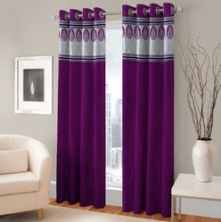 Fabric First Polyester & Cotton Curtains, For Window, Length: 7ft & 9ft