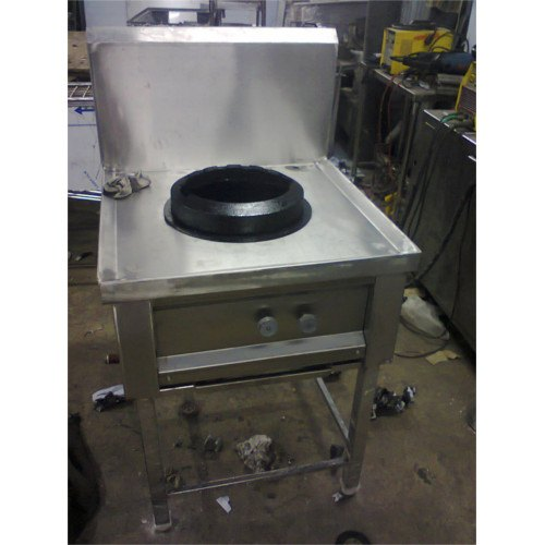 Stainless Steel Single Burner Chinese Range, Model Number: SHKE33
