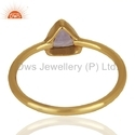 New Amethyst Gemstone Designer Gold On Silver Ring