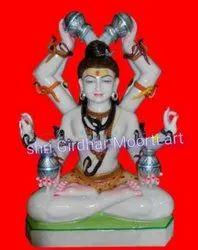 Marble Maha Mrityunjaya Statue