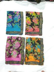 Printed Multicolor Daily Wear Saree, 6 m (with blouse piece)