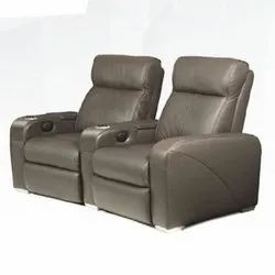 Gray Home Theater Recliner Chair
