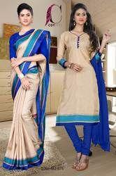 Uniform Saree Salwar Combo