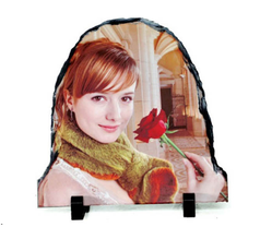 Door Shaped Stone Sublimation Photo Slate