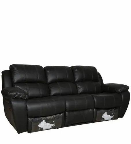 Strange Black Beauty 3 Seater Recliner Sofa Ncnpc Chair Design For Home Ncnpcorg