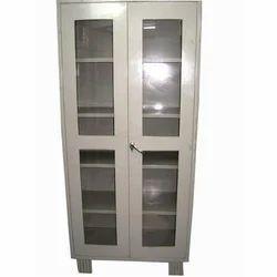 Grey Glass Door Almaira, For Office, Size: 78X36X18