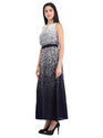 Cottinfab Women's Abstract Printed Maxi Dress
