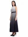 Cottinfab Women's Abstract Printed Maxi Dress