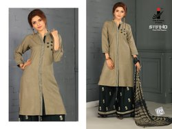 Kurti With Palazzo Embroidery Work for Women