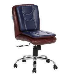 Libranejar LB Dark Brown And Blue Workstation Chair