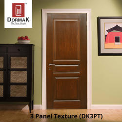 DK-3PT 3 Panel Texture Moulded Wooden Door