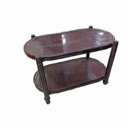5- 8 Mm (thickness) Standard Height Oval Shaped Plastic Table