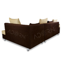 Adorn India Adillac Corner Sofa (Brown & Beige)