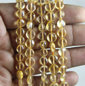 Citrine Plain Coin Shape Natural Gemstone Beads