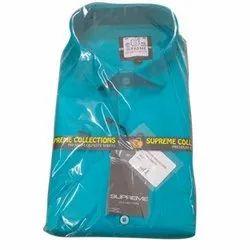 Supreme Collection Plain Mens Sky Blue Cotton Casual Shirt, Size: 40