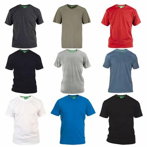 Mens Plain Round Neck T Shirts