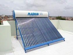 Blue 2-6 Feet Madhav Solar Water Heater, 100 lpd