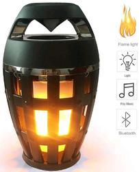 Assorted Auslese Bluetooth Speaker with LED Flickering Flame Light