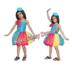 Multicolour Frock Firozi Costume