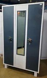 Color Coated 3 Door Household Steel Cupboard, For Home