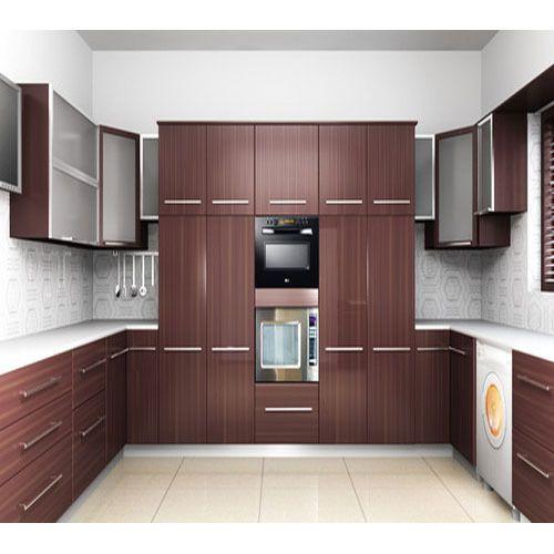 Colourful Modular Kitchen Design: PVC Modular Kitchen, ���ीवीसी ���ॉड्यूलर ���िचन, Modular Kitchen