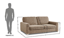 Adorn India Straight Line 3 1 1 Sofa Set(Camel)