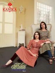 Aditi Vol 4 By Kanika Rubby Silk Formal Wear Kurti