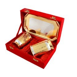 Gold And Silver Brass Family Gifts Plated Water Glass Set