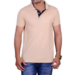 Men Cotton Collor T Shirt, Size: S, M & L