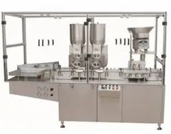 Automatic Injectable Dry Powder Filling Machine With Rubber Stoppering Unit