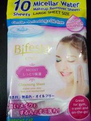 10 Miscellar Water Sheets (Makeup Remover Sheets)