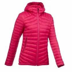 Decathlon Trek 100 m Size Pink Women Mountain Trekking Down Jacket