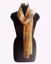 Indian Handmade Printed Kantha Silk Scarf
