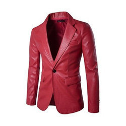 Red M And XL Men's Leather Jacket