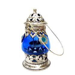 Oxidized & Glass Lantern