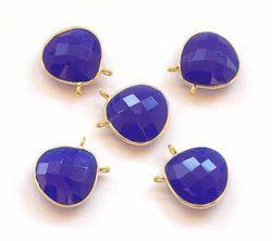 Blue Chalcedony Bezel Set Gemstone Pendant