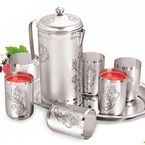 Gurukrupa Silver Steel Lemon Set