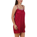 Ladies Maroon Short Nighty