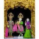 White Marble Radha Krishna Balram Statue