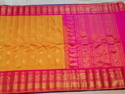 6.3 m (with blouse piece) Wedding Designer Gadwal Silk Saree