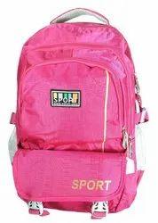 Printed Pink School Bag