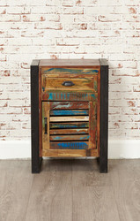 Wooden Bed Side Table, Reclaimed Wood Furniture