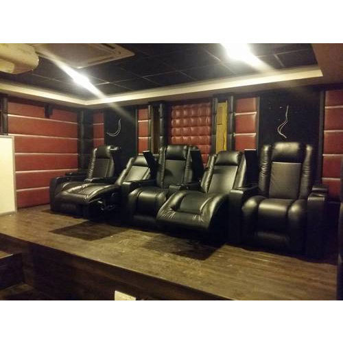 Black Sky Recliners Star Motorized Home Theater