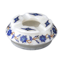 Round White Marble Ashtray