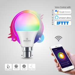 Green Surfer 9W Smart Wifi LED Bulb, Base Type: B22